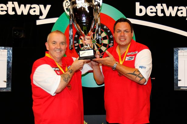 Adrian Lewis with Phil Taylor