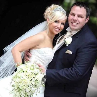 Adrian Lewis with his current wife Sarah