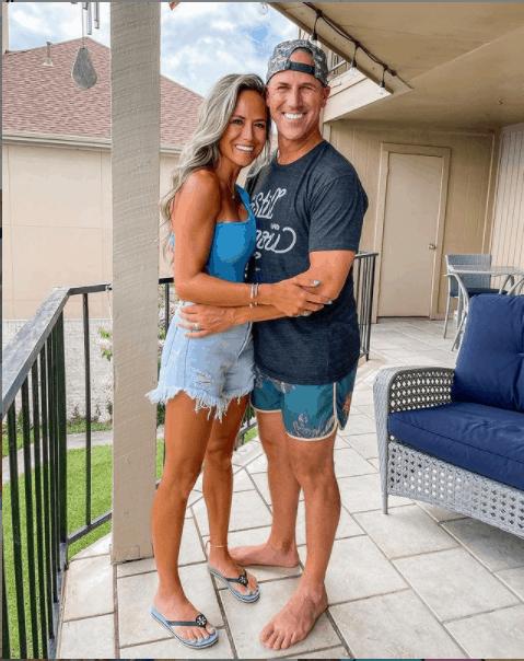 Chad Hedrick with his wife, Lynsey Elizabeth Adams.