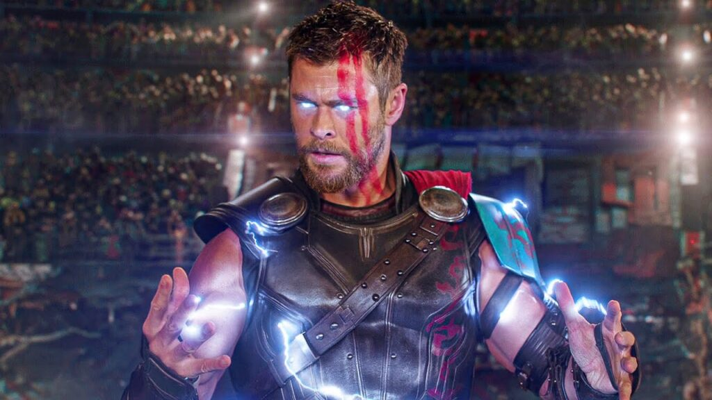 Chris Hemsworth in his Thor avatar.
