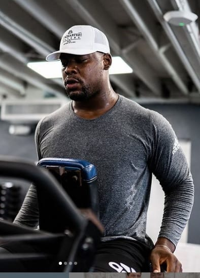 Chris Jones is Working Out.