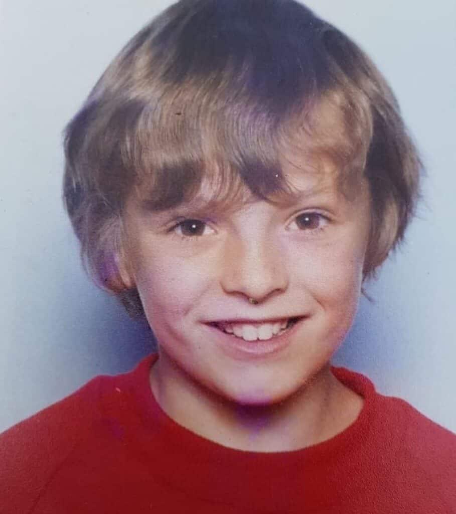 Chris Melling, as a kid