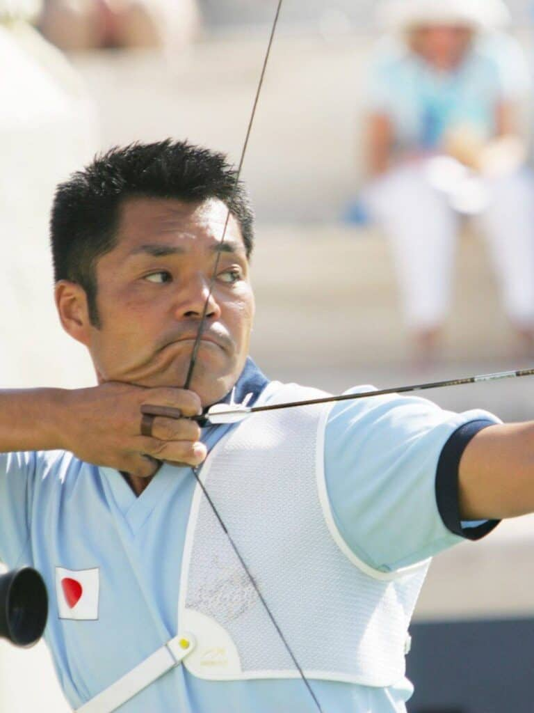 Hiroshi Yamamoto focusing during a competition