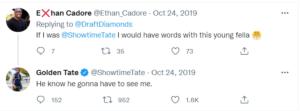 Golden Gate's response in Twitter