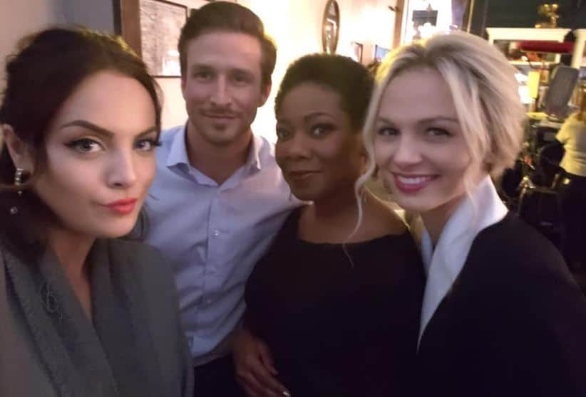 Karen McCollum with her co-stars