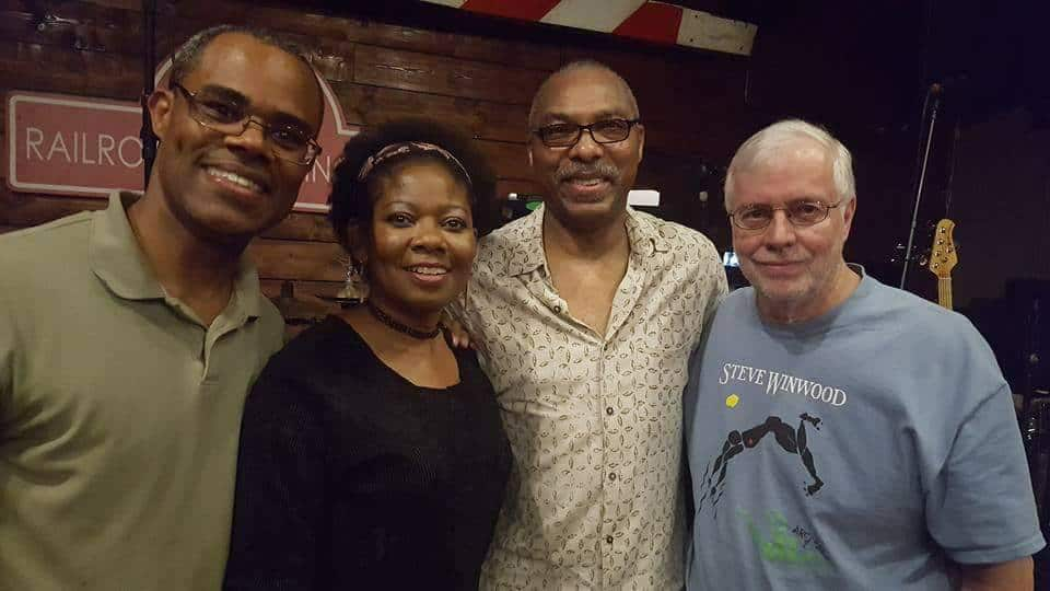Karen and her band members, the 4Ground Band