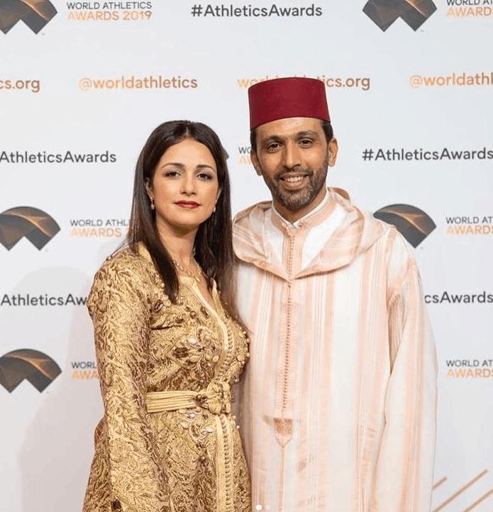 Hicham El Guerrouj with his wife in Monte-Carlo, Monaco