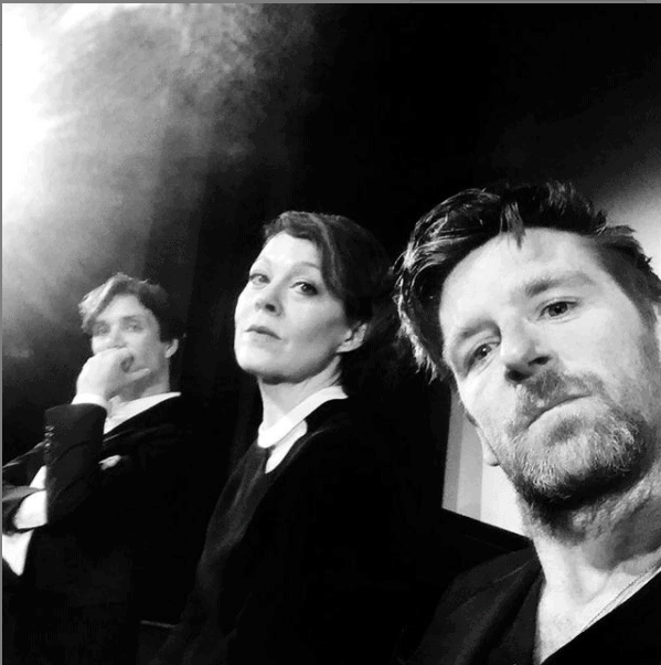 Paul Anderson during a set of Peaky Blinder's. From right Paul Anderson, Helen McCrory(deceased), and Cillian Murphy