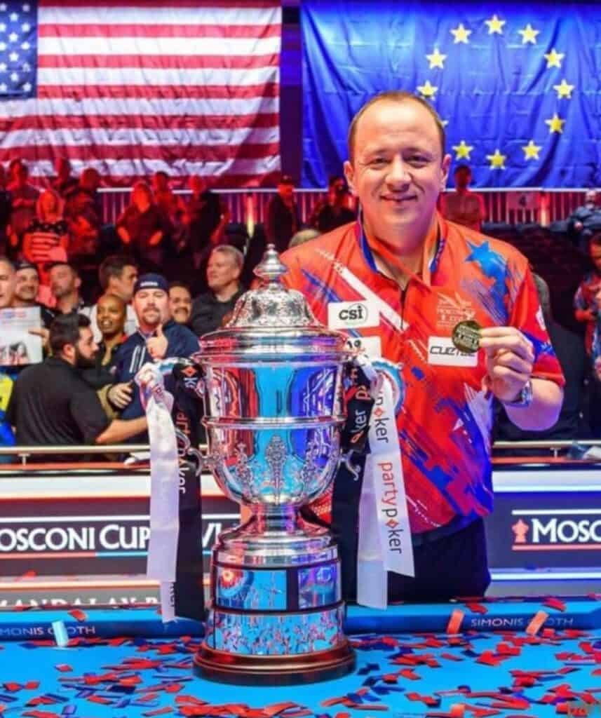 Shane Van Boening with The Mosconi cup