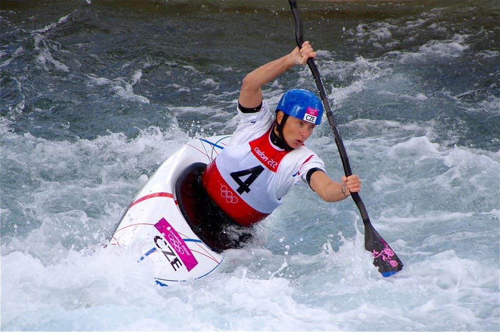 Stepanka Hilgertova during a competition