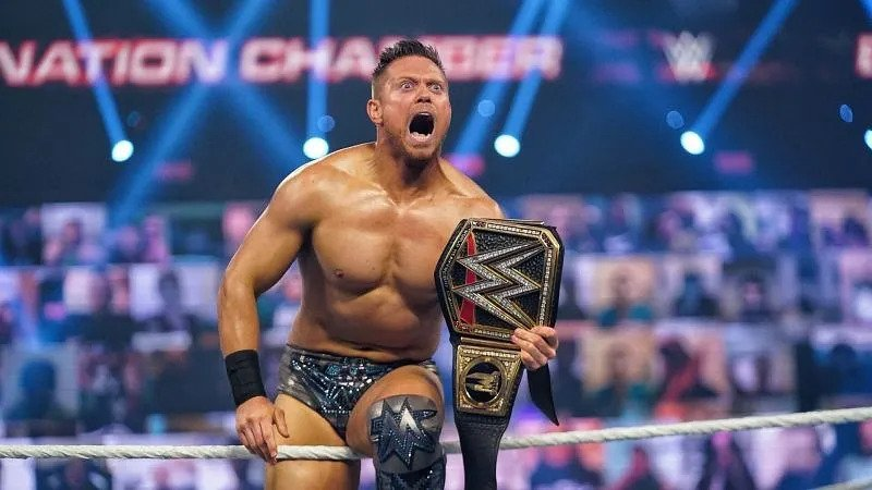 The Miz Winning The WWE World Championship Belt For The Second Time In His Career.