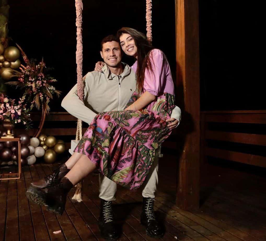 Thiago Braz with his wife Anna