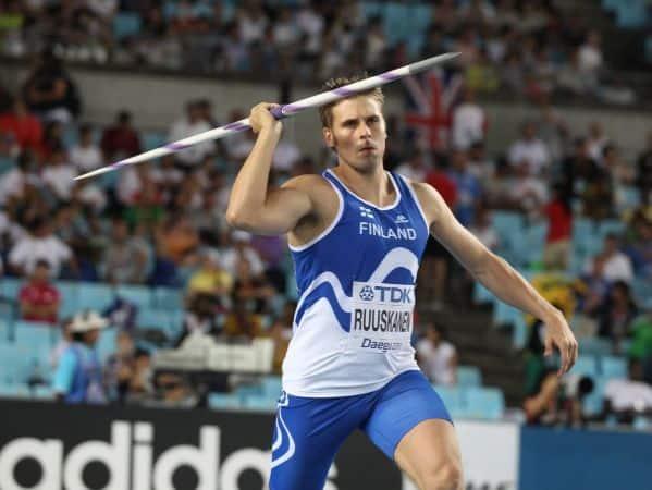 Ruuskanen with his Javelin Throw