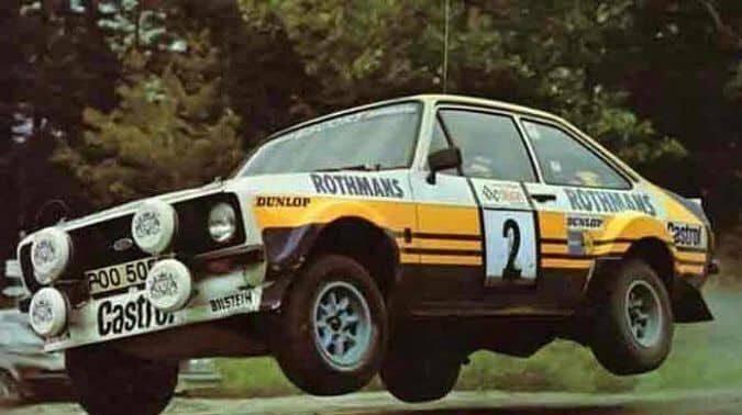 Bjorn driving his Rally Car