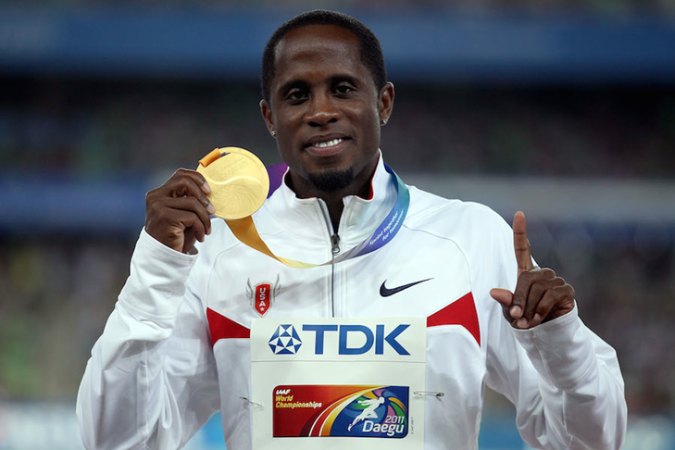 Dwight Phillips with Gold Medal