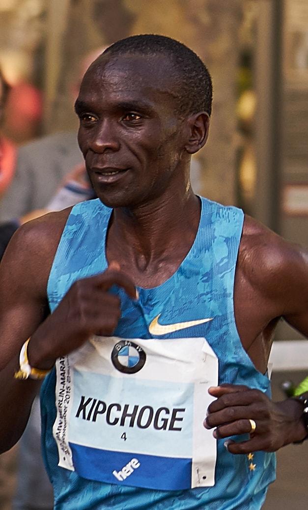 Eliud Kipchoge running at Berlin Marathon