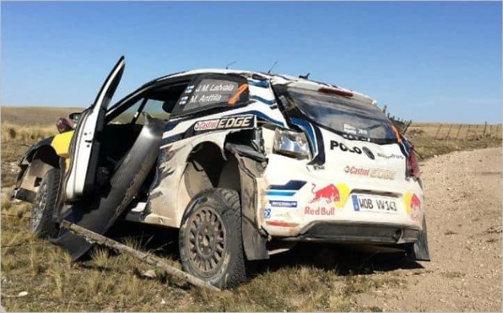 Latvala Ford Crash