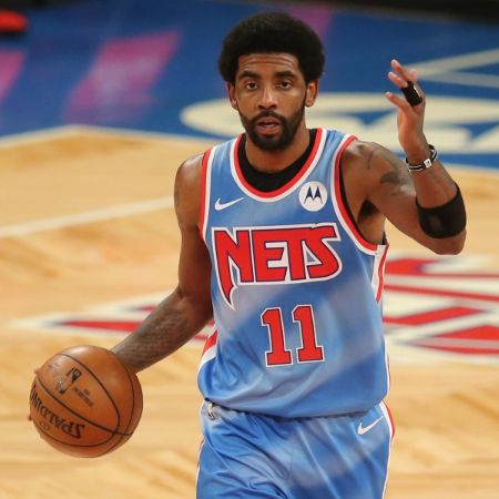 Irving playing for the Nets