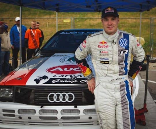 Jari-Matti Latvala with his rally drive