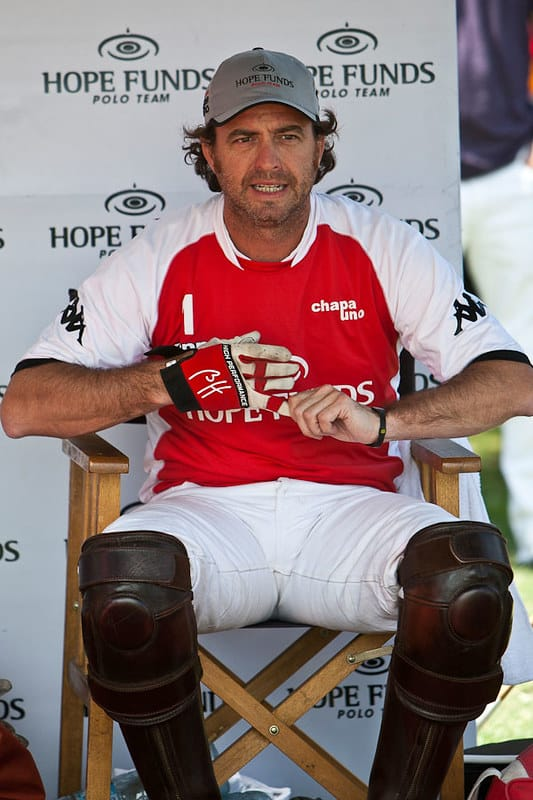 Bautista Heguy during a polo game.