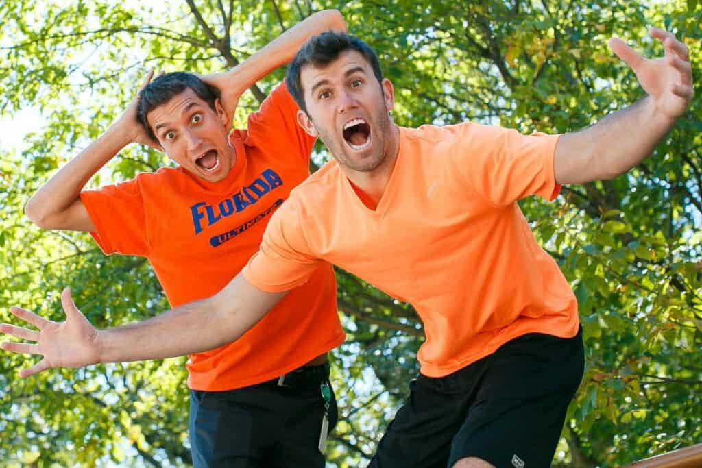 Brodie Smith and Kurt Gibson posing for a camera Source: Ultiworld