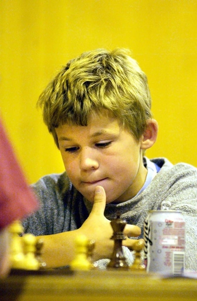 Carlsen during his early chess career