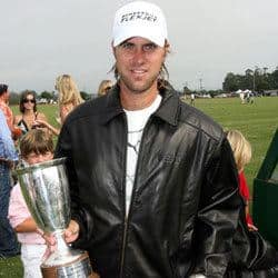 Gonzalo Pieres posing with a trophy