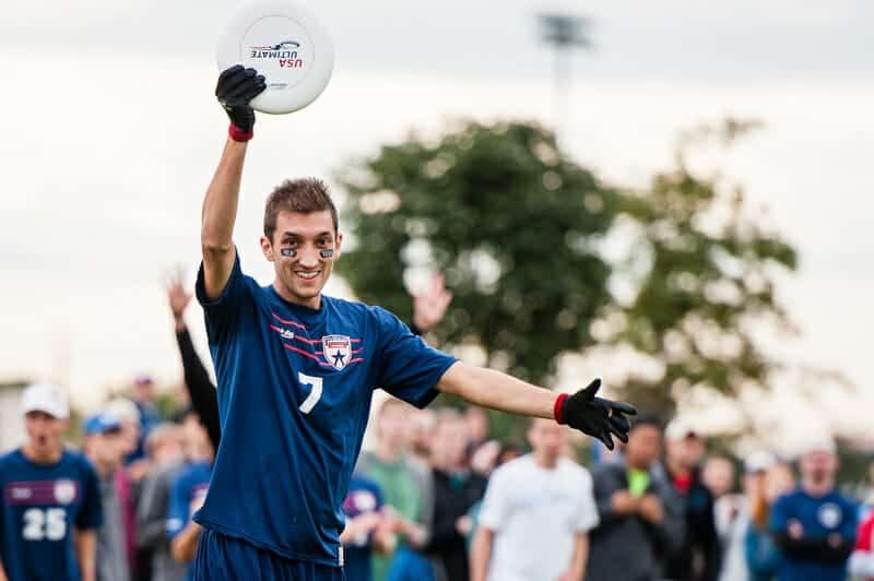 Kurt Gibson playing Ultimate Frisbee (Source: Ultiworld)